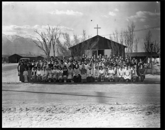 Confirmation at Manzanar War Relocation Center, 1944